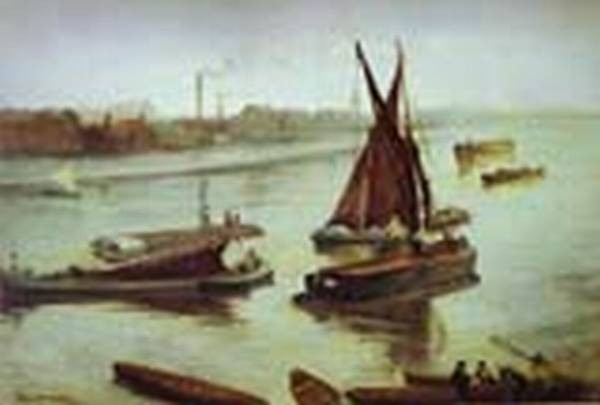 Grey and silver old battersea beach 1863 xx art institute of chicago chicago il usa